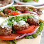 Mediterranean Burger with Mint Yogurt Sauce A Cedar Spoon 1